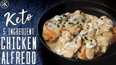 5 Ingredient Keto Chicken Alfredo | Easy Chicken Alfredo | Keto Recipes