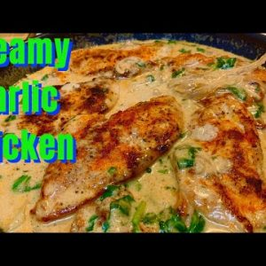 Keto Creamy Garlic Chicken Recipe