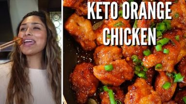 DELICIOUS KETO ORANGE CHICKEN! Easy Low Carb Recipe! ONLY 4 gram of Carbohydrates per serving
