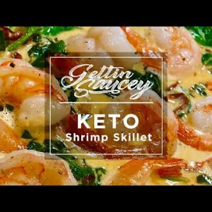 Creamy Keto Shrimp & Spinach Skillet | Keto Recipes | Paleo Whole 30 | Keto Diet Ideas