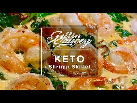 Creamy Keto Shrimp & Spinach Skillet | Keto Recipes | Paleo Whole 30 | Keto Diet Ideas