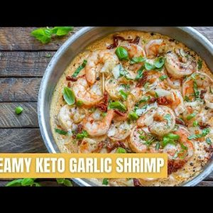 How To Make Creamy Garlic Shrimp With Parmesan – Easy Keto Shrimp Recipe – Blondelish