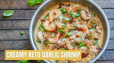 How To Make Creamy Garlic Shrimp With Parmesan – Easy Keto Shrimp Recipe – Blondelish