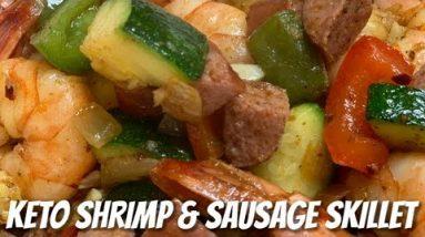 Keto Shrimp & Sausage Skillet