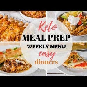 EASY KETO MEAL PREP RECIPES | EASY KETO DINNER RECIPES AND WEEKLY MENU