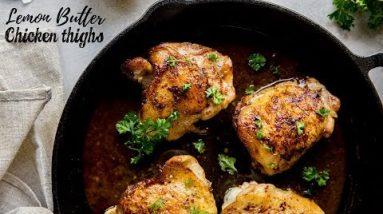 Lemon Butter Chicken | Keto Chicken Thigh Recipes