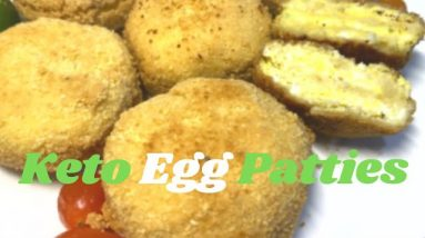 Best Keto Boiled Egg Patties | Vegetarian Fried Egg Patties | Easy Keto Low Carb Vegetarian Patties