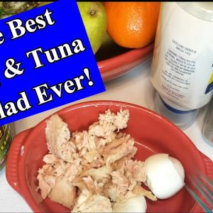 HOW TO MAKE THE BEST KETO EGG & TUNA SALAD EVER! QUICK & EASY 🥚🥚🐟🐟