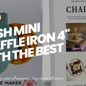 """Dash MINI Waffle Iron 4"""" With The Best Keto Chaffle Recipe Book and Journal by Charmed By Drago..."""