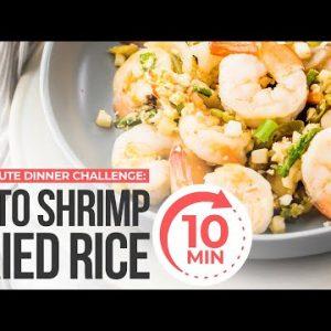 EASY 10 MINUTE KETO DINNER RECIPE | 10 Minute Dinner Challenge | Keto Shrimp Fried Rice