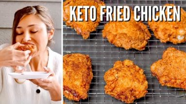 KETO FRIED CHICKEN! How to Make Keto KFC! Delicious KFC Keto Fried Chicken That's ONLY 2 NET CARBS!