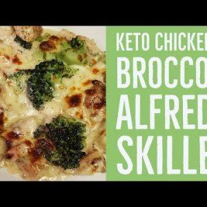 Keto Chicken and Broccoli Alfredo Skillet