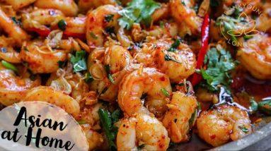 4 Minutes Spicy Garlic Shrimp