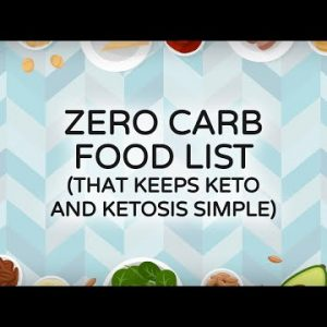 Zero Carb Food List that Keeps Keto and Ketosis Simple