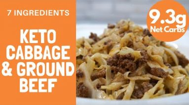 BEST KETO CABBAGE AND GROUND BEEF RECIPE | How to make a simple high fat low carb meal for keto