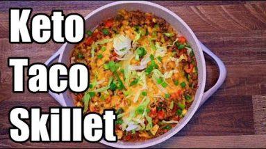 Keto Cheesy Taco Skillet Recipe | Keto Daily