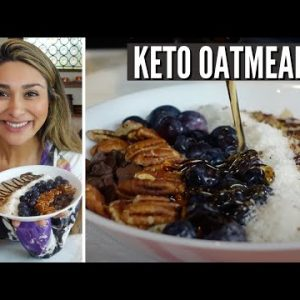 5 MINUTE KETO OATMEAL! How to Make The BEST Keto Oatmeal Recipe! ONLY 3 NET CARBS!