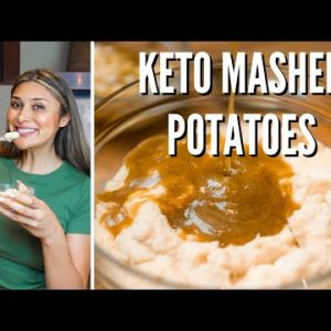 BEST KETO MASHED POTATOES RECIPE! How to Make Keto Mashed Potatoes & Gravy for Thanksgiving! 1 CARB