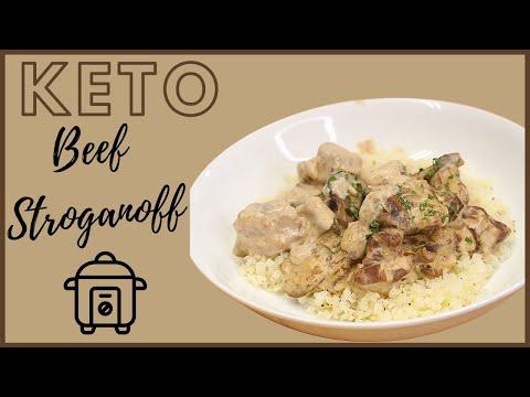 Keto Beef Stroganoff | Dump & Go Recipe | Instant Pot | Slow Cooker