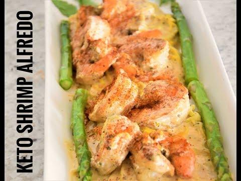 Keto Low Carb Garlic Shrimp Alfredo – Keto Diet Meals