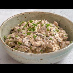 Keto Ground Beef Stroganoff Recipe