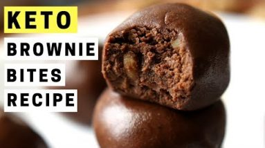 KETO Fat Bombs   Low Carb Brownie Bite Fat Bomb Recipe    Best Fat Bombs For Keto