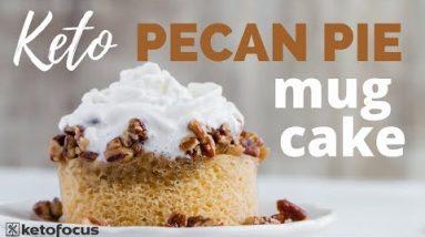The BEST KETO PECAN PIE MUG CAKE EVER   Easy Keto Dessert Mug Cake Recipe