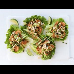 Spicy Keto Thai Shrimp Lettuce Wraps Recipe