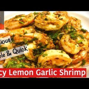 Spicy Lemon Garlic Shrimp/Low Carb & Keto/Authentic Desi Recipe