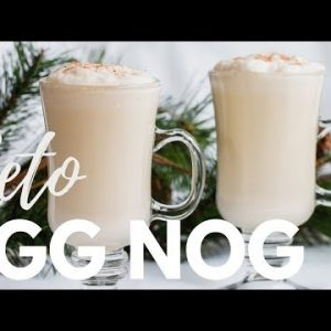 KETO EGGNOG RECIPE | The BEST, CREAMIEST cooked eggnog