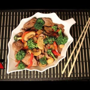 Chinese Beef and Broccoli Stir Fry (keto, gluten free, sugar free)