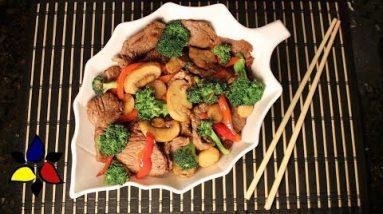 Chinese Beef and Broccoli Stir Fry (keto, gluten free, sugar free)