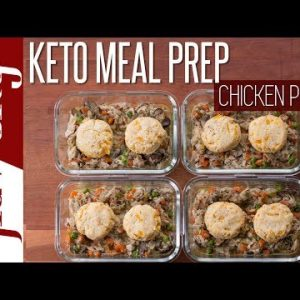 Chicken Pot Pie Meal Prep With Low Carb Keto Cheddar Biscuits