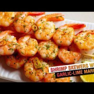 Shrimp Skewers with Garlic Lime | Keto Recipe
