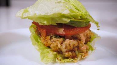 KETO SHRIMP BURGER : Cooking w/ Ramona Debreaux & Wayfield