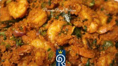 Keto Shrimp Fenugreek Sukka   Coconut Seafood Recipe   Princess Royal Cuisine