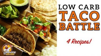 Low Carb TACO BATTLE! – The BEST Keto Taco Shell Recipes – Hard and Soft Lowcarb Tortillas