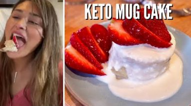 BEST 1 MINUTE KETO MUG CAKE – So Easy and Simple – Low Carb Vanilla Cake Only 4g Net Carbs