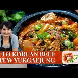 Keto Korean Beef Stew | 30 Minute Yukgaejang Recipe