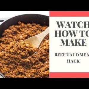 Whole30 Ground Beef Taco Meat Hack! (Keto, Paleo)