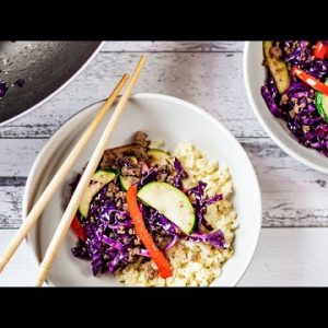 """Keto Stir Fry Recipe – """"Easy & Affordable"""" Low Carb Ground Beef Meal"""