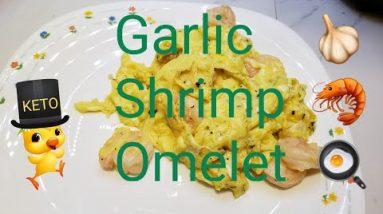 Garlic Shrimp Omelet. Low Carb Keto Recipe