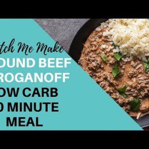 Keto Beef Stroganoff | Keto ground beef recipe