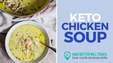 Keto chicken soup – quick and easy winter recipe!