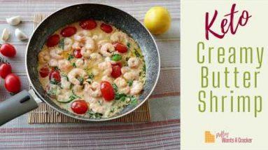 Keto Creamy Butter Shrimp |Keto Recipes| Custom Keto Diet