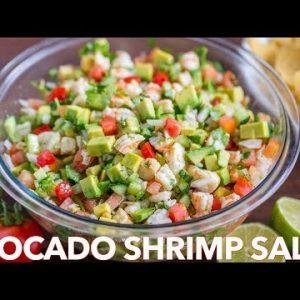 Loaded Avocado Shrimp Salsa Recipe – Homemade Shrimp Salad