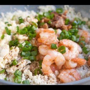 Keto Shrimp Cauliflower Fried Rice Low Carb Recipe
