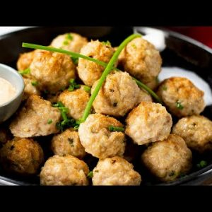 Keto Chicken Meatballs Recipe with Cheddar Cheese – Very Tasty & Low Carb ( Under 1g Net Carbs )