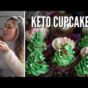 BEST CHOCOLATE CAKE RECIPE EVER! How to Make Keto Chocolate Cupcakes | ONLY 2 CARBS