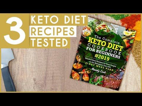 Keto Diet Cookbook for Beginners (TOP 3 KETO RECIPES!!)